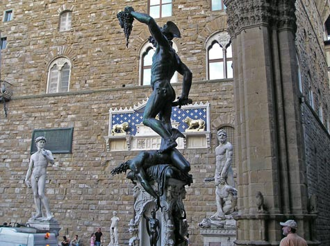 Perseus Statue by Cellini in Florence Italy