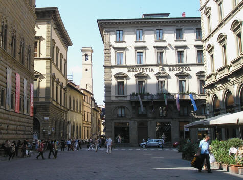 Piazza degli Strozzi in Florence Italy