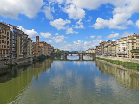Santa Trinita Bridge in Florence Italy
