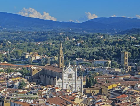 Santa Croce Basilica in Florence Italy