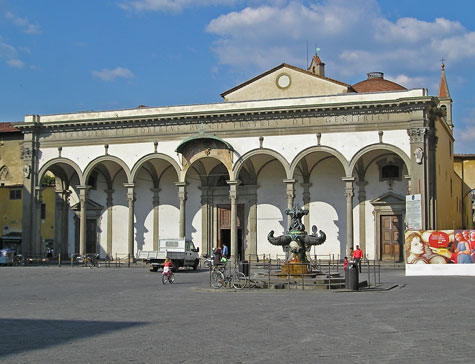 Santissima Annunziata Church in Florence Italy